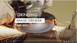 Grinding - Angle Grinder - fiber disc_moment